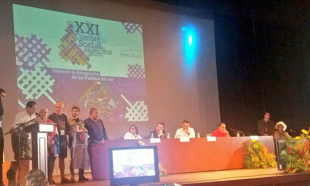 Movimiento obrero propone economía social en la XXI Cumbre Social del MERCOSUR