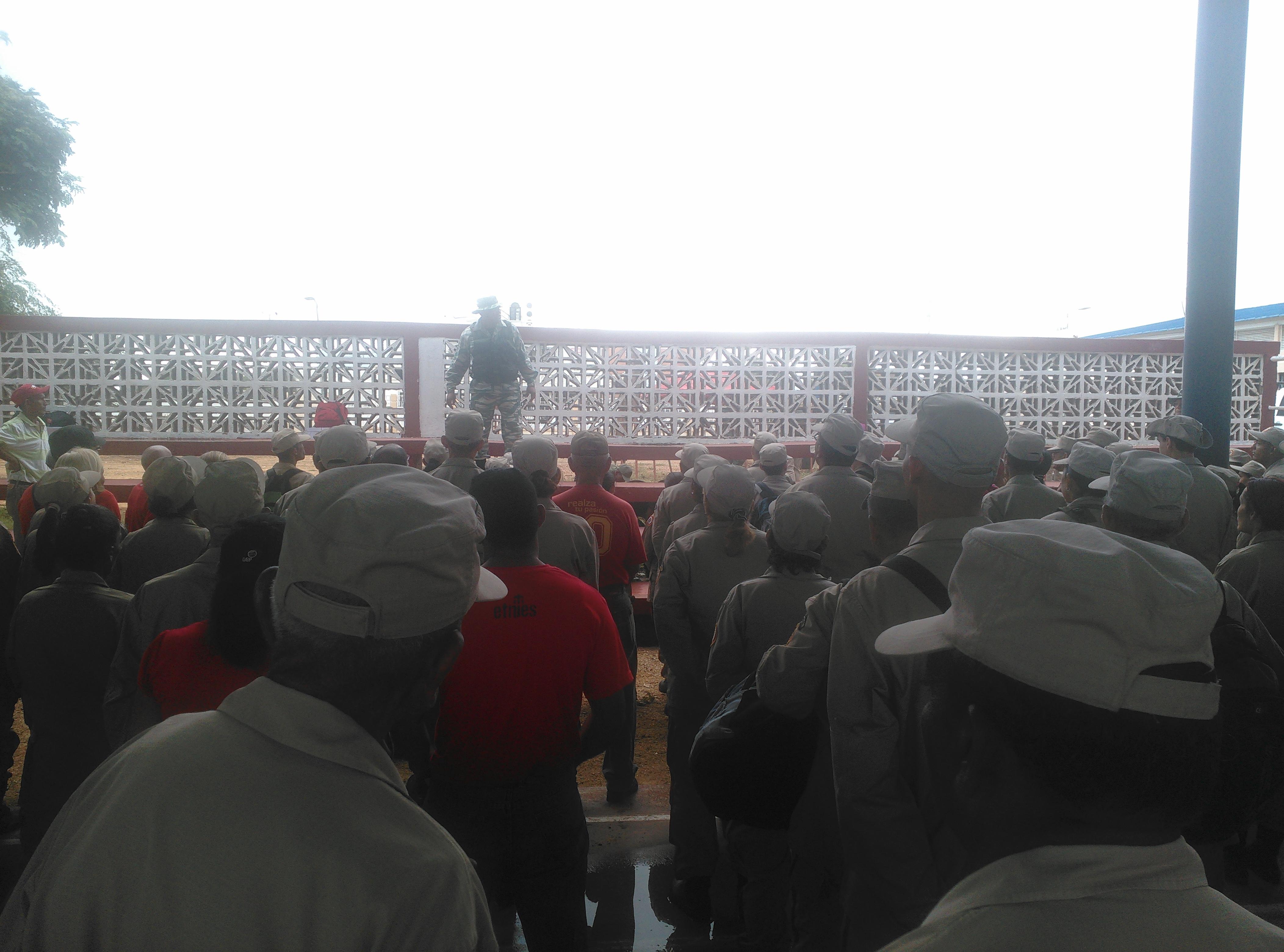 Trabajadores de VIT en la vanguardia durante Ejercicio Zamora 200