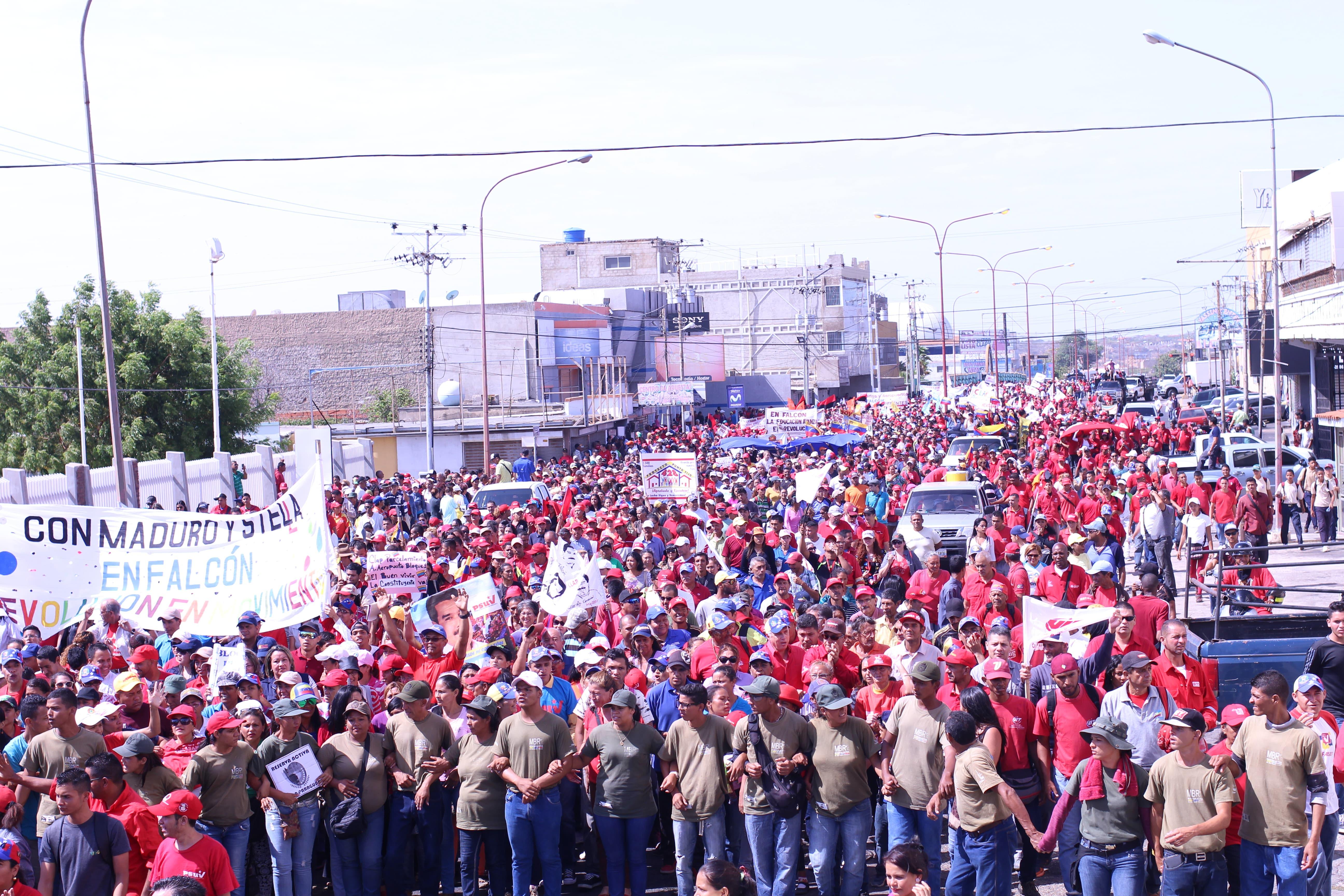 VIT marcha en Falcón por la Constituyente y la paz