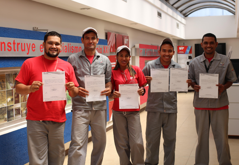 Talento humano de VIT recibe Certificación de Saberes gracias al INCES