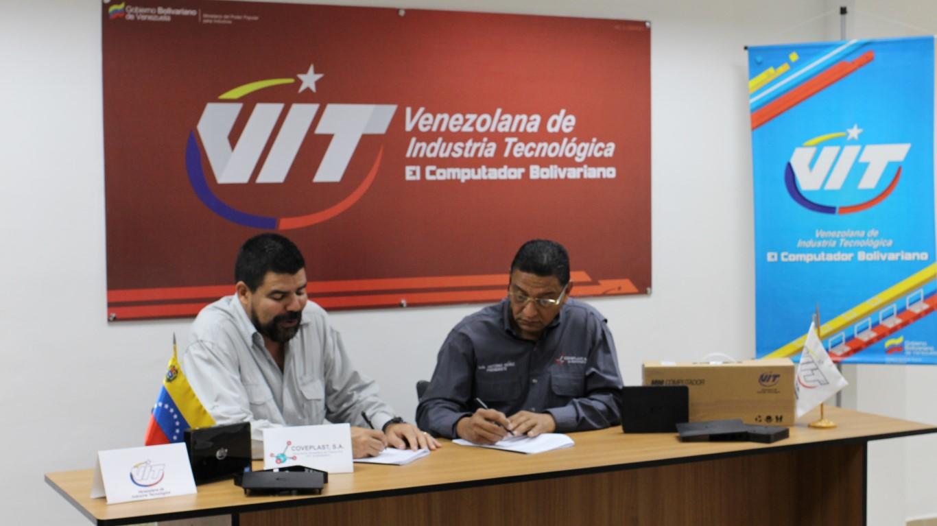 VIT y Coveplast firman acuerdo para elevar producción de Mini Computador
