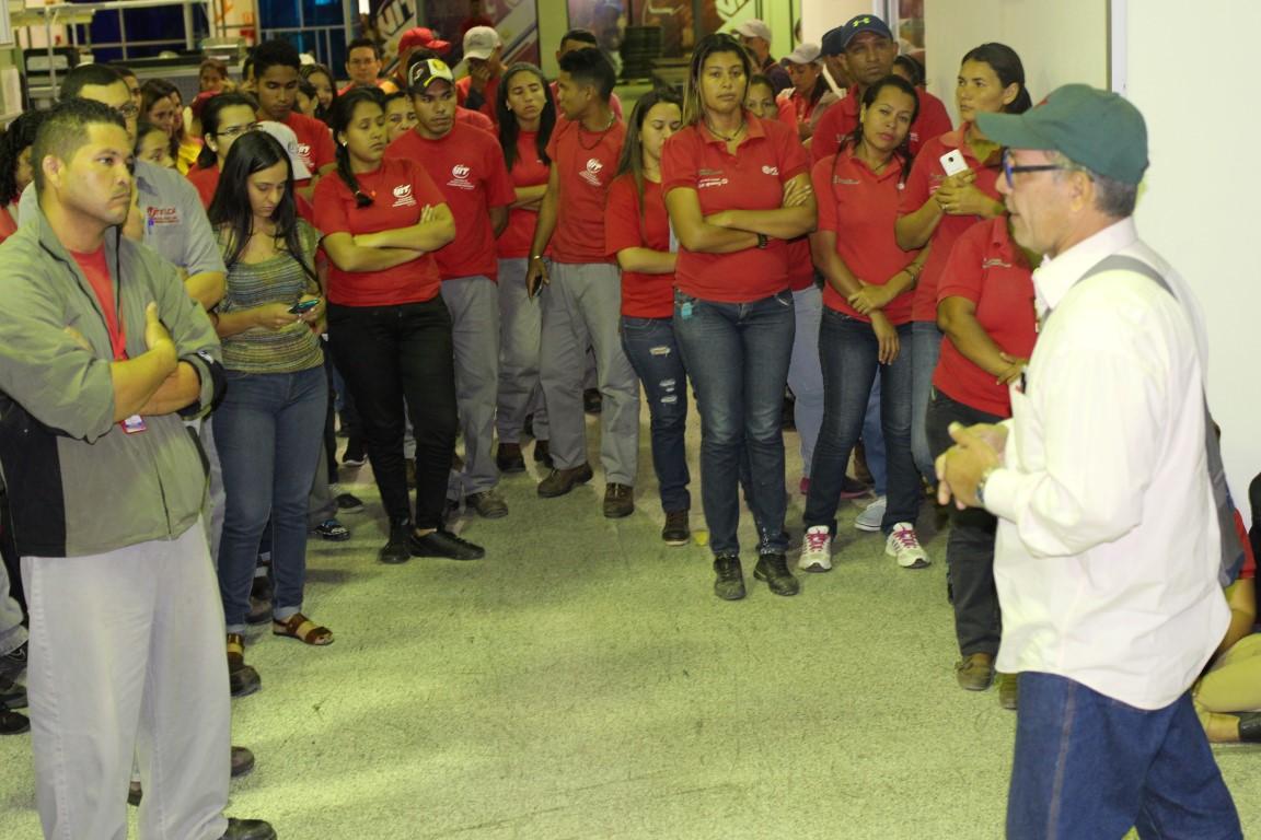 Clase trabajadora del sistema Ronca en respaldo al presidente Nicolás Maduro